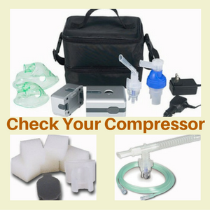 Check your DeVilbiss Traveler - Portable Compressor/Nebulizer System to get ready for allergy season