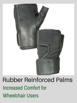 Wheelchair Gloves Rubber Reinforced Palms Increase Comfort for Wheelchair Users