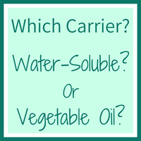 Magic Bullet Suppository Carrier Water Soluble or Vegetable Oil