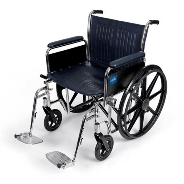 Picture of Medline Excel - Extra-Wide Wheelchair (Full Length Armrest)