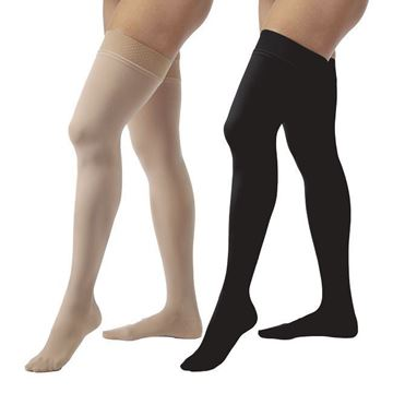 Picture of Jobst Opaque - Women's Thigh High 20-30mmHg Compression Support Stockings