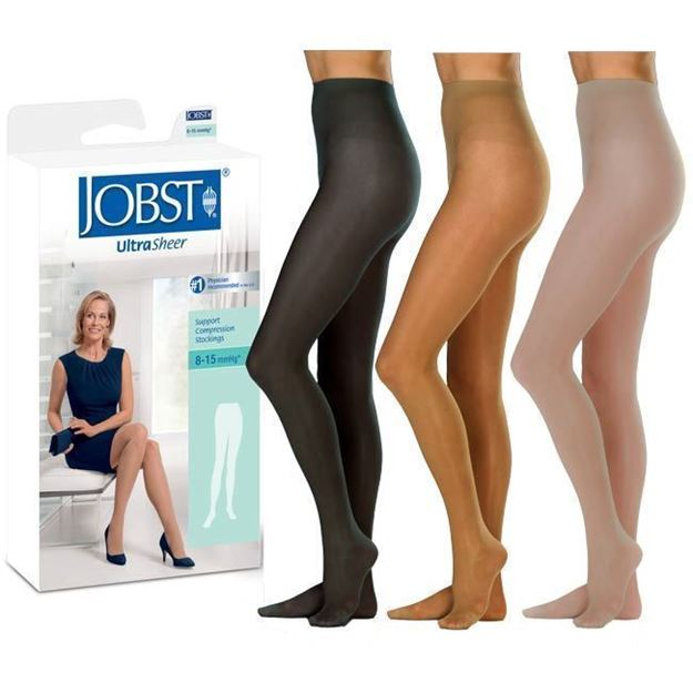 Picture of Jobst UltraSheer - Women's Pantyhose 8-15mmHg Compression Support Stockings