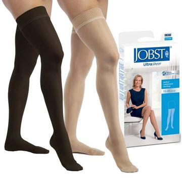Picture of Jobst UltraSheer - Women's Petite Thigh High 15-20mmHg Compression Support Stockings