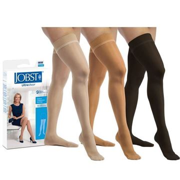Picture of Jobst UltraSheer - Women's Thigh High 15-20mmHg Compression Support Stockings