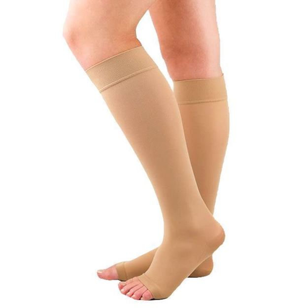 Picture of Mediven Plus - Knee High 20-30mmHg Compression Stocking (Extra Wide Calf/Open Toe)