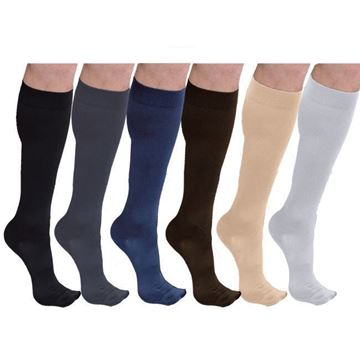 Picture of Sigvaris Cotton Ribbed - Men's 20-30mmHg Compression Support Socks