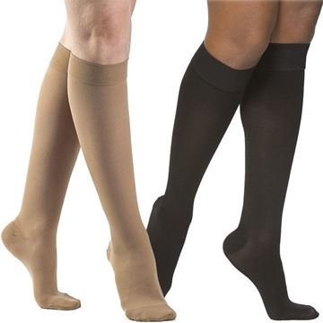 Picture of Sigvaris Opaque - Women's Calf 20-30mmHg Compression Support Socks (Grip Top)