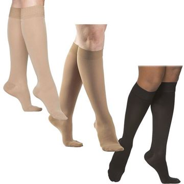 Picture of Sigvaris Opaque - Women's Calf 30-40mmHg Compression Support Socks