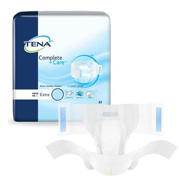 Picture of Tena Complete +Care Briefs - Adult Diaper with Tabs