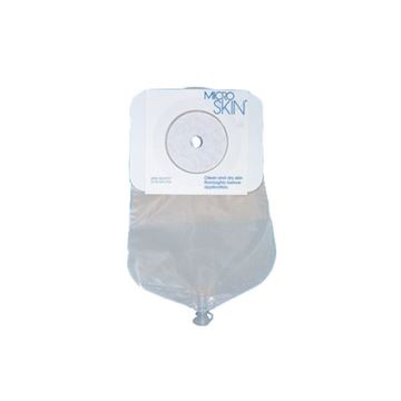 """Picture of Cymed MicroSkin - 9"""" Drainable One-piece Urostomy Bag (Pre-cut)"""
