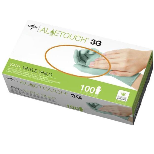 Picture of Medline Aloetouch 3G Synthetic Vinyl Exam Gloves