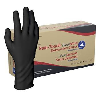 Picture of Dynarex - Black Nitrile Exam Gloves