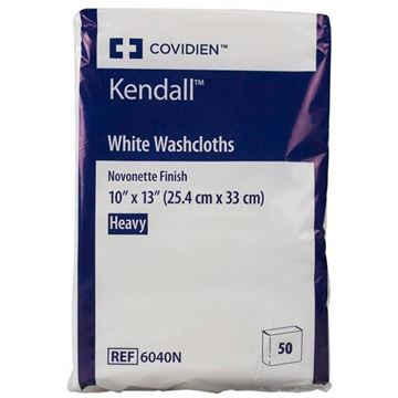 Picture of Covidien Excilon - Heavy Duty Disposable White Washcloths